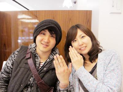 二人が気に入る指輪に出会えて良かったです!