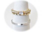 結婚指輪・婚約指輪重ね着けリング
