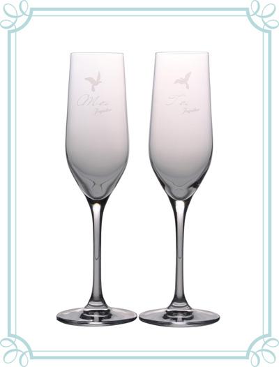 jupiterオリジナルのペアシャンパングラスをプレゼント!