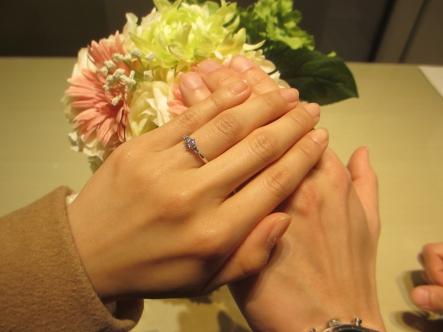 楽しく、ステキな指輪を選べました。