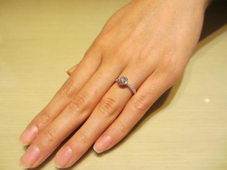 質の良いダイヤを選ぶことが出来ました。