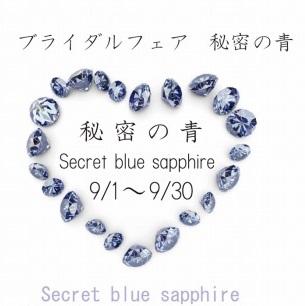 ひな「秘密の青」フェア 9/26~9/30