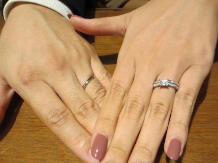 指輪も接客も提案も、大満足です!