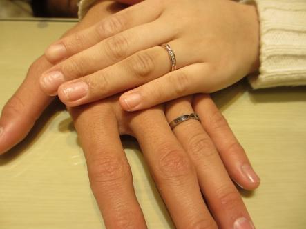 楽しい指輪選びができました。