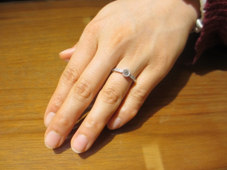 すてきな指輪を作っていただきました。