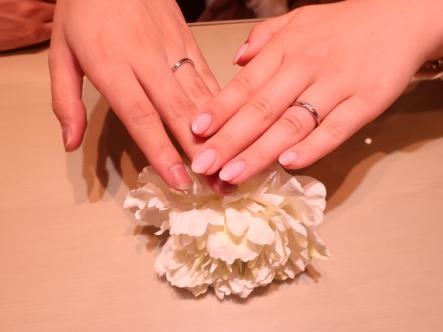 とても気に入る結婚指輪を見つけることが出来ました。