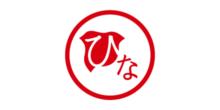 和テイストのブライダルジュエリーブランドでひなのロゴ