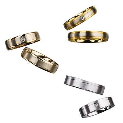 鍛造製法の結婚指輪ユーロウェディングバンド