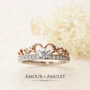 AMOUR AMULETの婚約指輪でアザレア