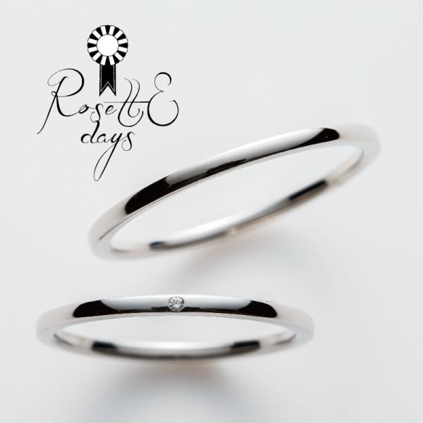 Rosette細身の結婚指輪大阪梅田ロゼット