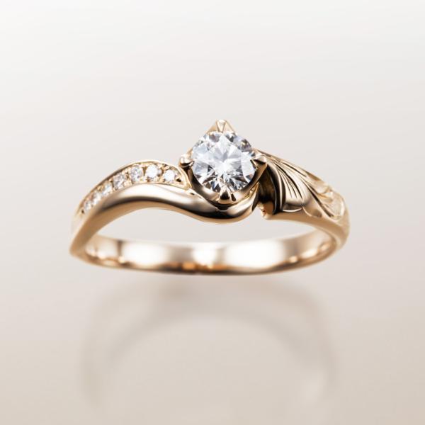 Makanaマカナの婚約指輪でME-1のピンクゴールドの大阪・梅田・神戸・京都の正規取扱店