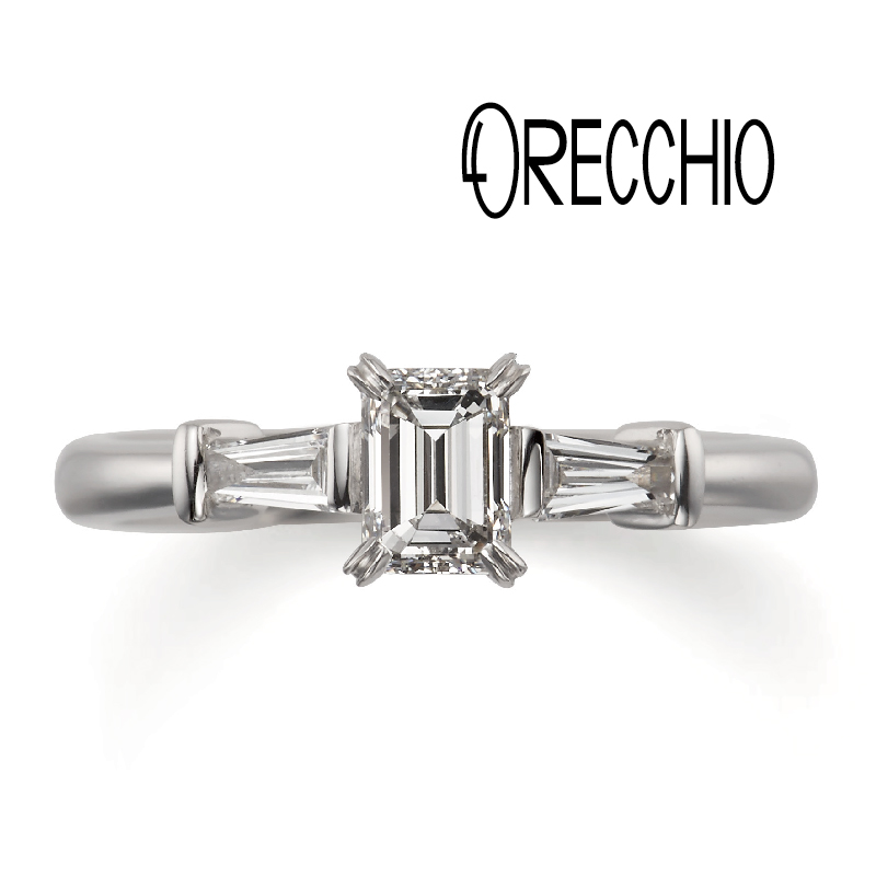 バケットカットがおしゃれな婚約指輪のオレッキオ