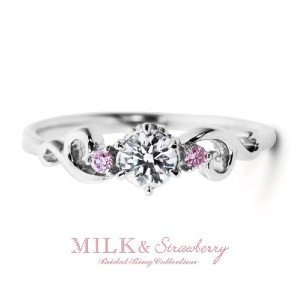 ミルク&ストロベリーの婚約指輪でアントレッセ