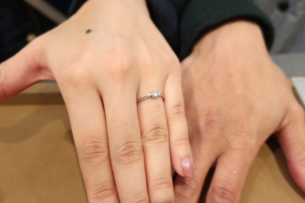 指輪とても気に入りました