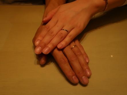 指輪選びが楽しかったです。