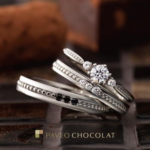アンティーク調ブラックダイヤ個性派結婚婚約指輪を大阪で探すなら関西最大級ブライダルリングセレクトショップgarden梅田