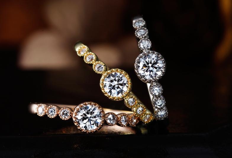アンティーク調かわいい個性派婚約指輪を大阪で探すなら関西最大級ブライダルリングセレクトショップgarden梅田