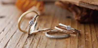 アンティーク調杢目かわいい個性派結婚婚約指輪を大阪で探すなら関西最大級ブライダルリングセレクトショップgarden梅田