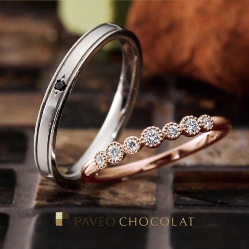 アンティーク調かわいいピンクゴールド個性派結婚婚約指輪を大阪で探すなら関西最大級ブライダルリングセレクトショップgarden梅田