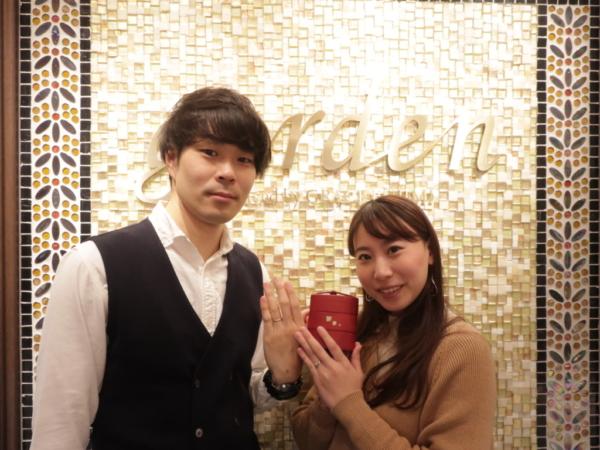 PRIMAPORTAの婚約指輪と ひなの結婚指輪 兵庫県尼崎市