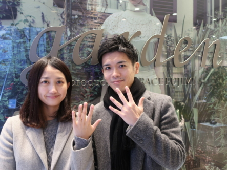 D-Terraceの婚約指輪とFISCHERの結婚指輪 大阪市城東区