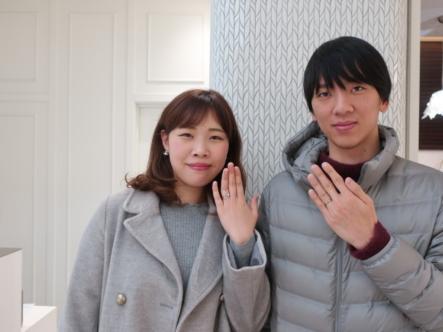 ひなの婚約指輪とKatamuの結婚指輪 鳥取県鳥取市