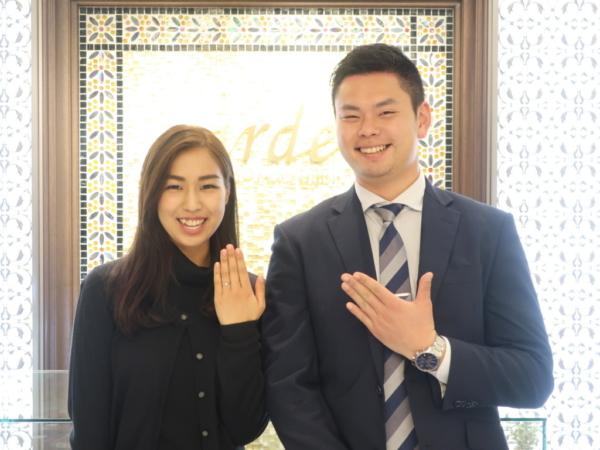 gardenオリジナルの婚約指輪 兵庫県宝塚市