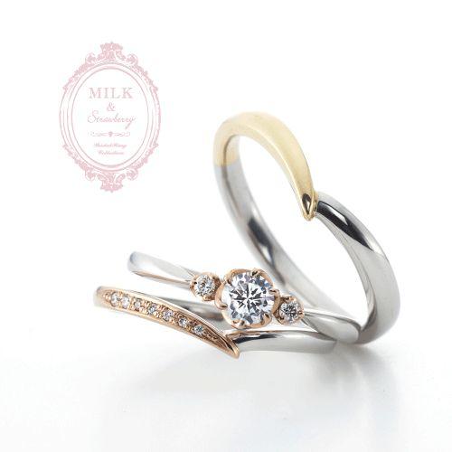 2色のコンビ結婚指輪なら大阪茶屋町ブライダルリング専門セレクトショップgarden梅田