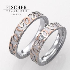 鍛造作りで強度が良い一生使うこだわりドイツFISCHER2色結婚指輪は大阪の関西最大級ブライダルリング専門セレクトショップgarden梅田