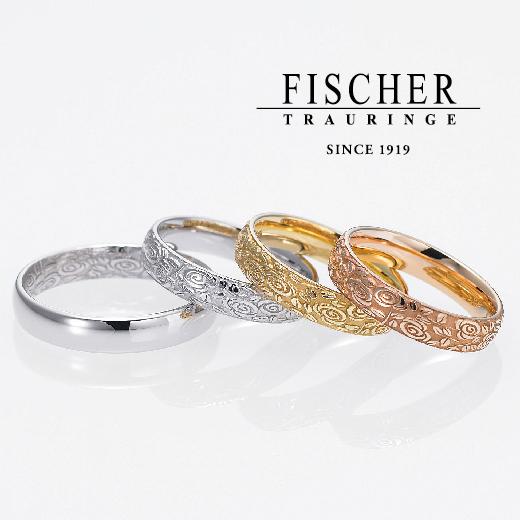 鍛造作りで強度が良い一生使うこだわりドイツFISCHERバラ結婚指輪は大阪の関西最大級ブライダルリング専門セレクトショップgarden梅田