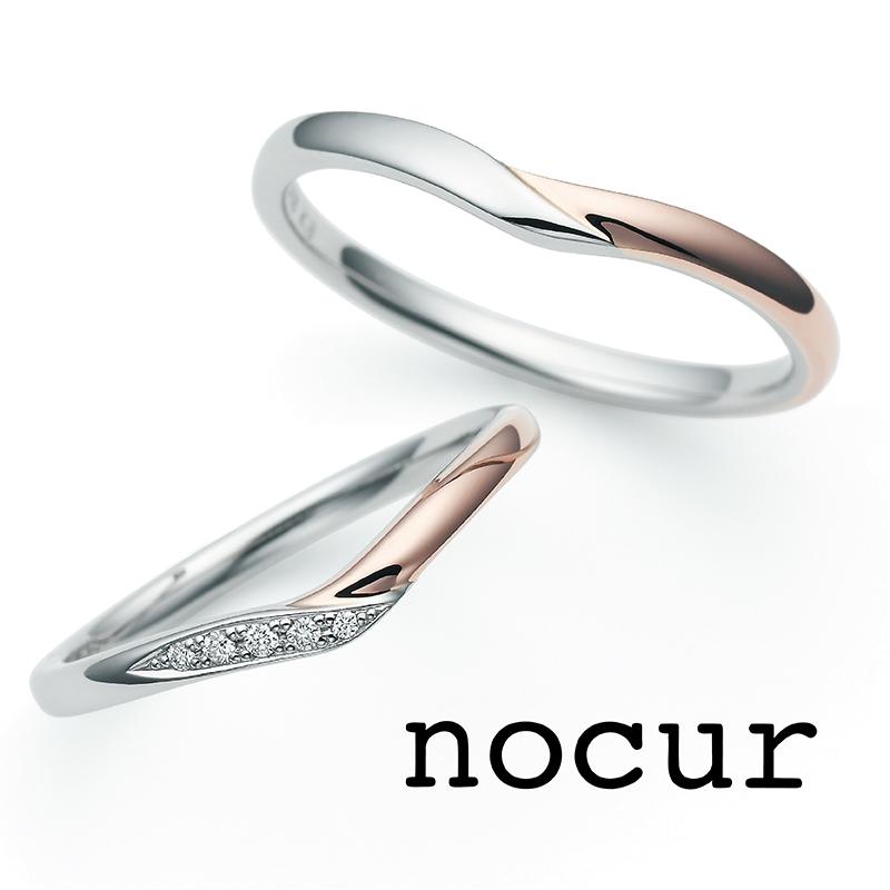 2色のコンビかわいい低価格結婚指輪は大阪茶屋町のブライダルリング専門店garden梅田