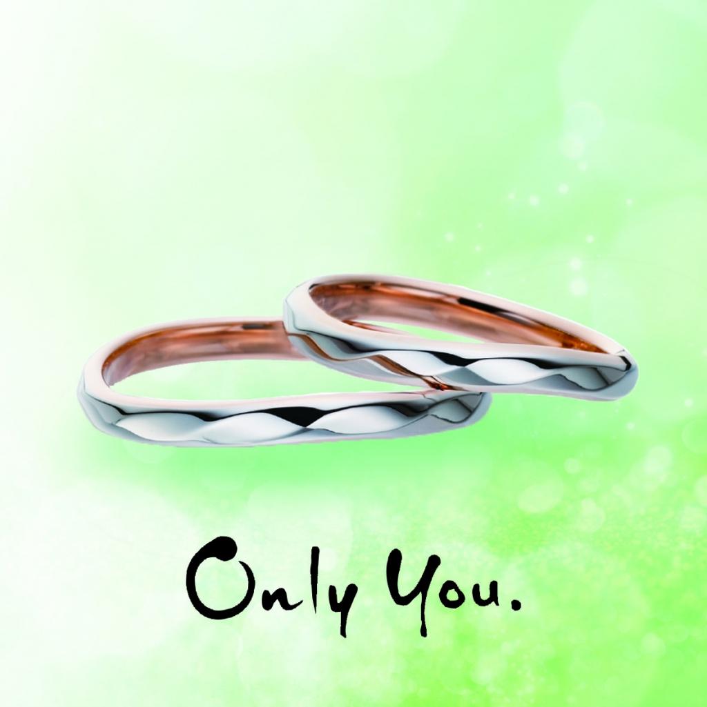 2色のコンビ結婚指輪なら大阪茶屋町ブライダルリング専門セレクトショップgarden梅田9