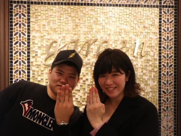 Mariageの婚約指輪とFISCHER・Mariageの結婚指輪 和歌山県和歌山市