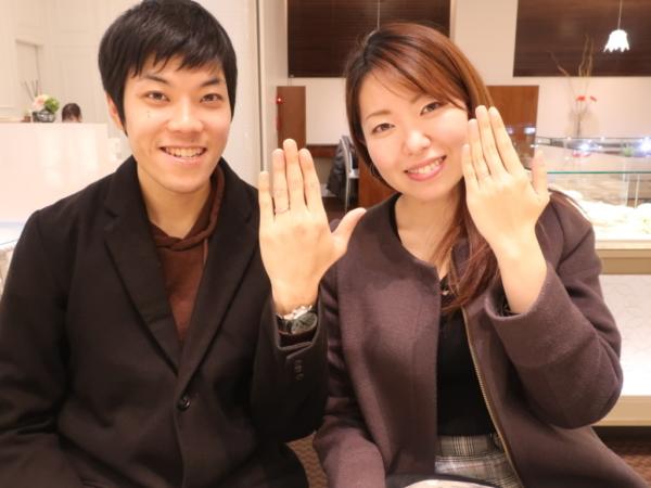 エトルとYUKAHOJOの結婚指輪をご成約