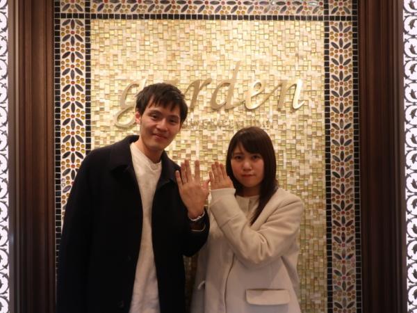 PRIMAPORTAの婚約指輪とMilk&Strawberryの結婚指輪 大阪府堺市堺区