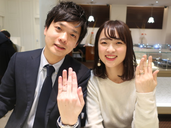ORECCHIOの婚約指輪とORECCHIOの結婚指輪 大阪府