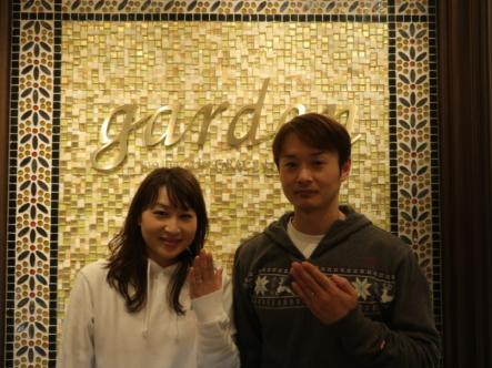 gardenオリジナルの婚約指輪とOCTAVEの結婚指輪 大阪市茨木市