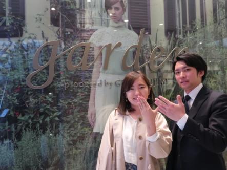 LAPAGEの婚約指輪とCHERLUVの結婚指輪 大阪市