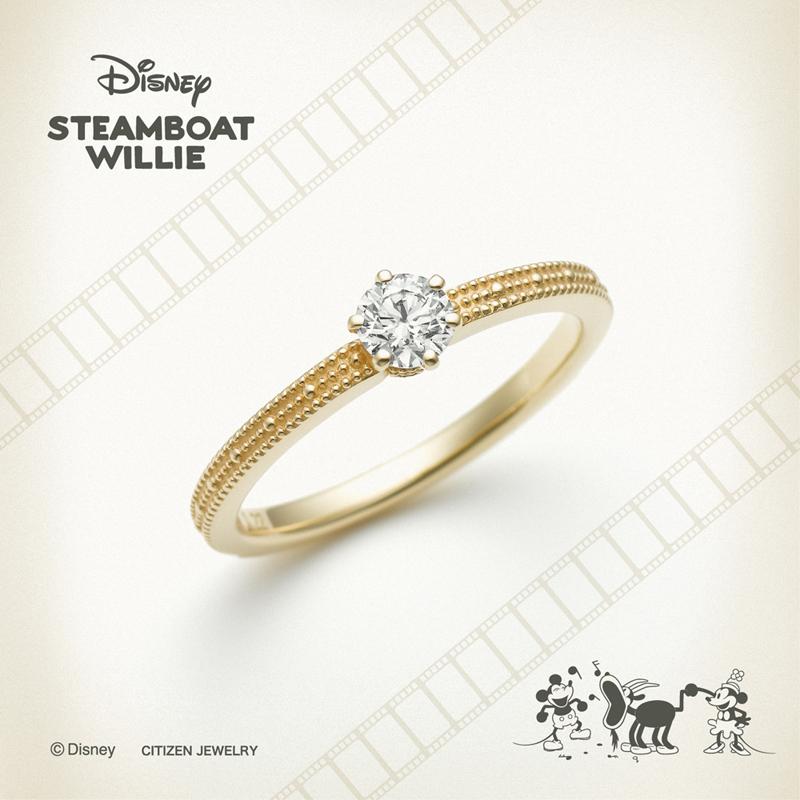 ディズニーミッキースティームボートウィリーの結婚指輪婚約指輪ならデザインにこだわった大阪梅田茶屋町のgarden梅田のブライダルリング4
