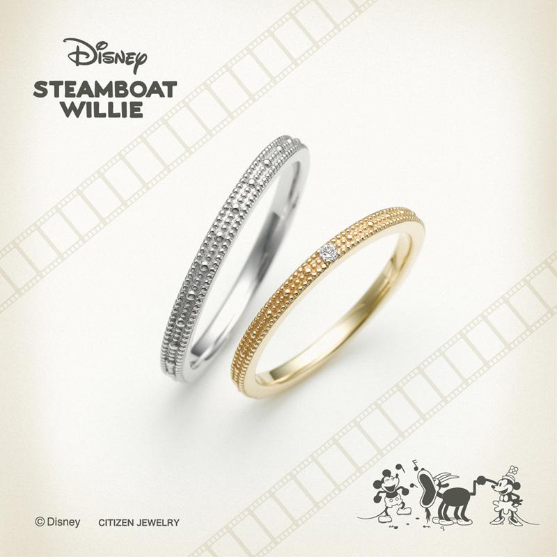 ディズニーミッキースティームボートウィリーの結婚指輪婚約指輪ならデザインにこだわった大阪梅田茶屋町のgarden梅田のブライダルリング3