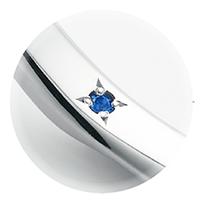 ディズニーファンタジアの結婚指輪婚約指輪ならサムシングブルーにちなんで内側にブルーサファイアをセッティングしてくれるデザインにこだわった大阪梅田茶屋町のgarden梅田のブライダルリング