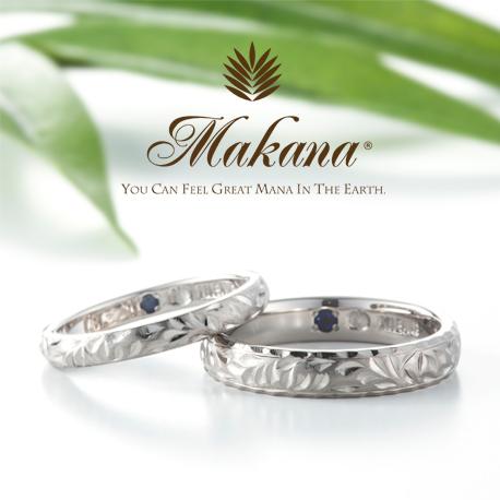 ハワイアンジュエリーの鍛造作りマカナ結婚指輪は大阪茶屋町の関西最大級ブライダルリングgarden梅田