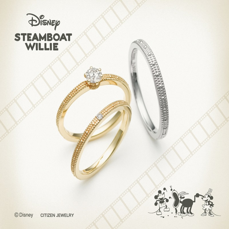 ディズニーミッキースティームボートウィリーの結婚指輪婚約指輪ならデザインにこだわった大阪梅田茶屋町のgarden梅田のブライダルリング