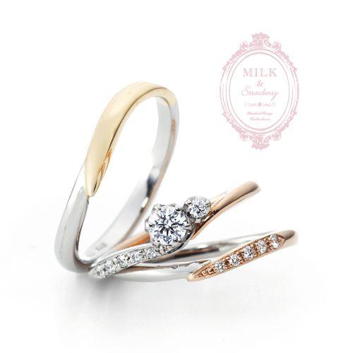 かわいいピンクダイヤモンドセットリングなら大阪茶屋町関西最大級のセレクトショップgarden梅田2