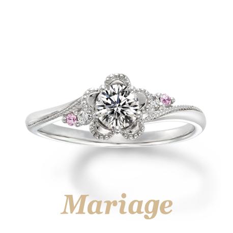 かわいいピンクダイヤの婚約指輪なら大阪茶屋町関西最大級のセレクトショップgarden梅田