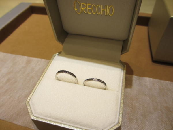 LAPAGEの婚約指輪とguiraの結婚指輪 大阪市福島区