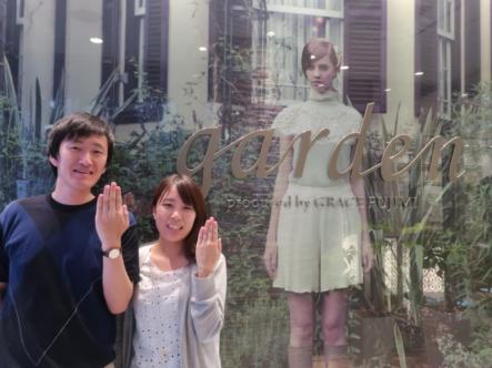 garden ORIGINALの婚約指輪・FISCHERの結婚指輪 香川県丸亀市
