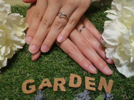 LAPAGEの婚約指輪・guiraの結婚指輪 大阪府岸和田市