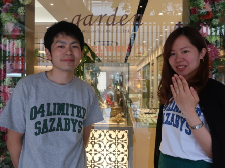 MILK&Strawberryの婚約指輪 大阪府豊中市