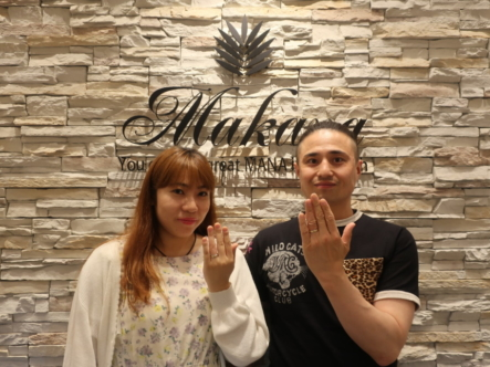 Makanaの結婚指輪 神戸市灘区